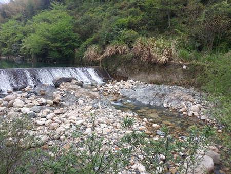 brooklet: stream water at mount huangshan