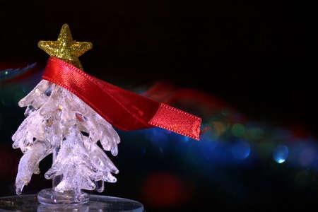 albero di natale di ghiaccio con sciarpa Stock Photo
