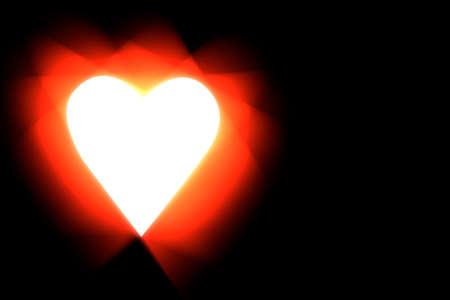 Stylized heart symbol on black background