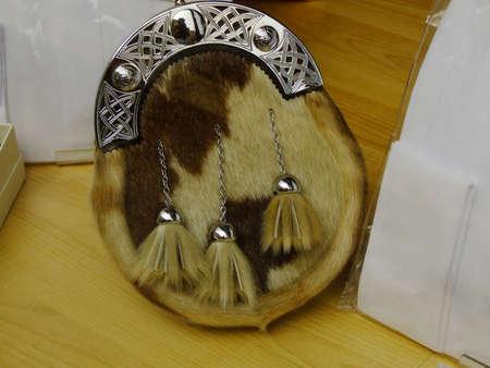 Scottish clothing item called sporran