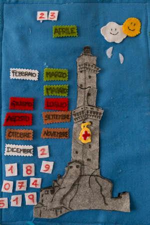 Genoa lantern decoration on velcro