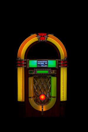 Jukebox image 50 years with black background