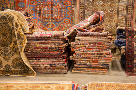 image of oriental carpets sold at a craft fair