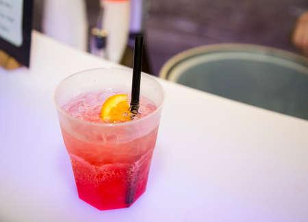 horizontal image with detail of a spritz cocktail Banco de Imagens