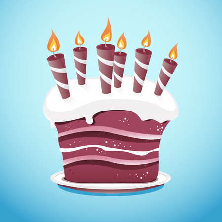 A nice vector cake covered in frosting sitting on a serving plate. All colors are global swatches for easy switching, if you need to re-color it. All aspects of the cake are on different layers making it easy for editing.