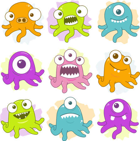 Some happy creatures with tentacles.