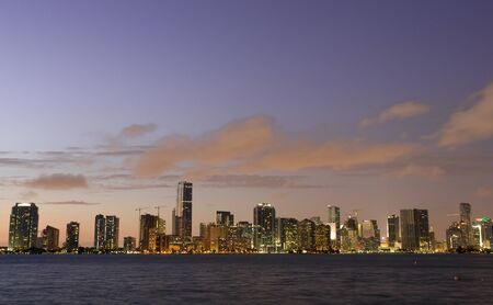 Miami Beach Skyline al atardecer photo