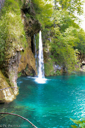 Waterfalls in Plitvicka Jezera Nationa Park photo