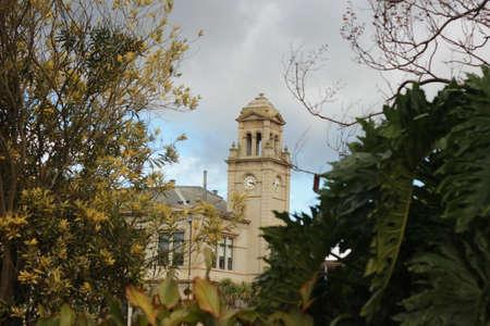 古老豪宅的旧世界建筑学的细节通过Werribee Mansion的庭院观看,在墨尔本维多利亚,澳大利亚附近的老大澳大利亚房产