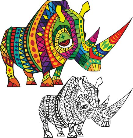 Patterned rhino style.