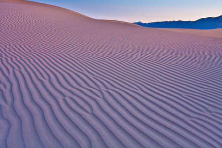 Mequite Flat Sand Dunes at Sunrise showing ripples in sand