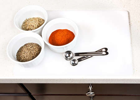 Herbs and spices used in cooking preparation