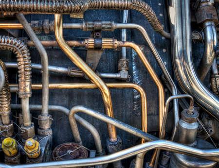 would: I tubi e sistemi meccanici di un motore a reazione aereo. Farebbe un grande sfondo punk a vapore.