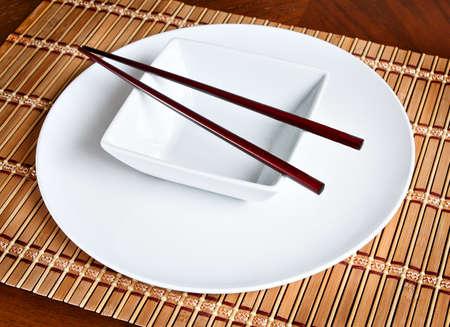 현대 아시아 테이블 설정 스톡 콘텐츠