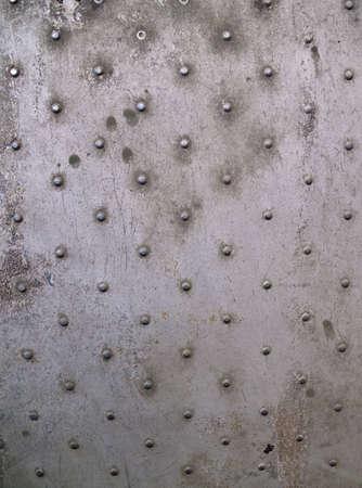 Rivets on an aircraft skin