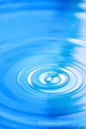 Circular ripples in clean clear blue water