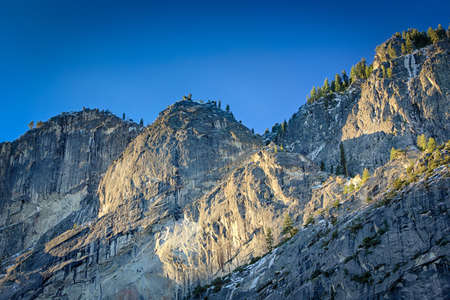 ridgeline: A ridgeline at the top of Yosemite Valley in the morning light