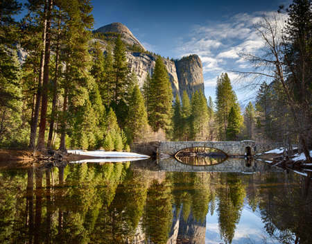 Stoneman bridge in morning light at Yosemite National Park photo