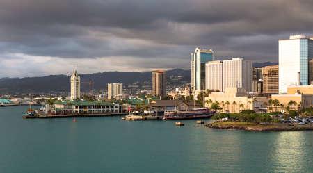 Honolulu Coastline Imagens