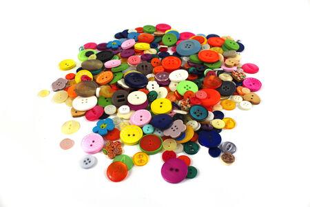 haberdashery: Pile of brightly coloured haberdashery buttons
