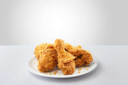 crispy kentucky fried chicken in a white background Stock Photo