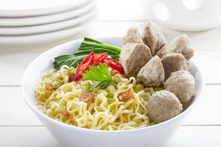 noodle with meatball indonesia food as known as bakso