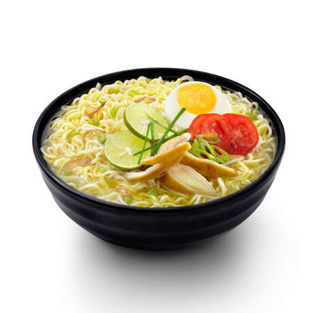 indonesian food: Soto Noodles Indonesian Food Isolated background