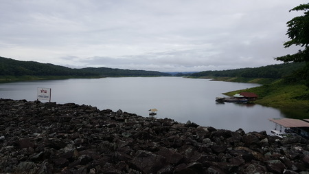 sirikit: Nan river at Sirikit Dam Stock Photo