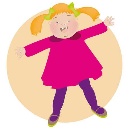 Cheerful little girl Stock Vector - 16724495