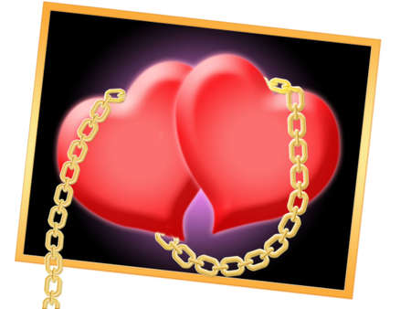 shackled: Dos corazones encadenados por la cadena de oro en el marco