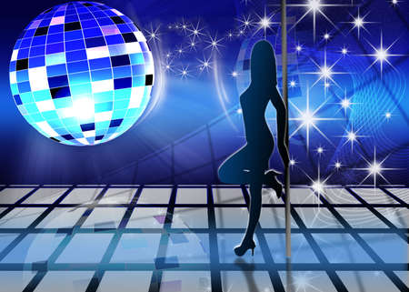 festive dance background with brilliant ball  photo