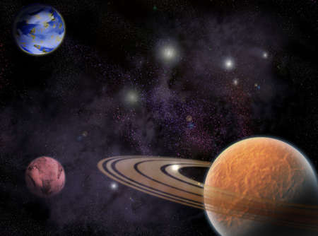Several Planets in outer spaces