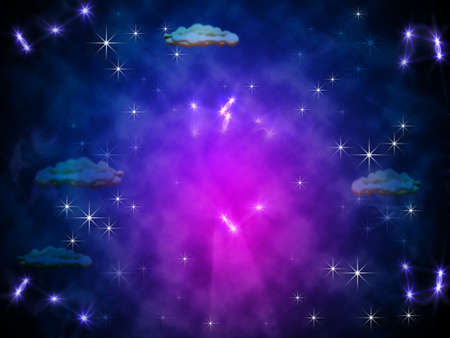 fairytale background: Colour cosmic fairy-tale background with ray of the light Stock Photo