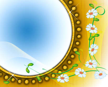 Abstract spring background with floral ornament photo