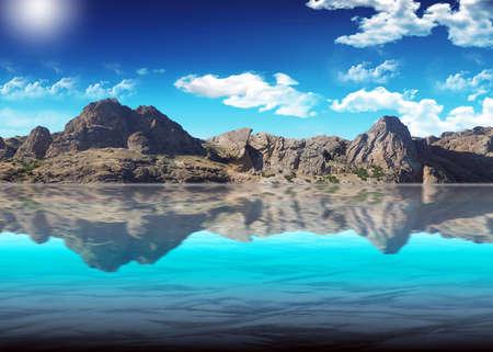 Beautiful kind of mountain Ridge against the blue pure sky Stock Photo - 6975813
