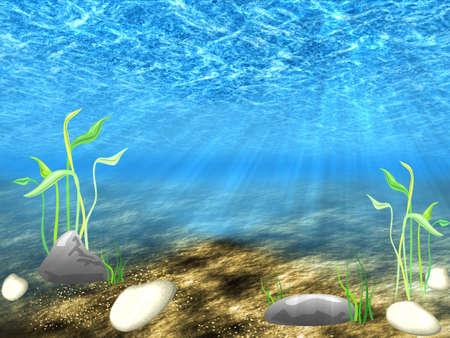 algas marinas: Fondo abstracto del mundo subacu�tico