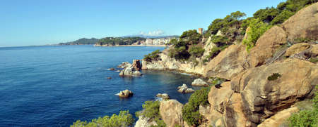 the panaramic landscape mediterranean seasides COSTA BRAVA.(spain) Stock Photo