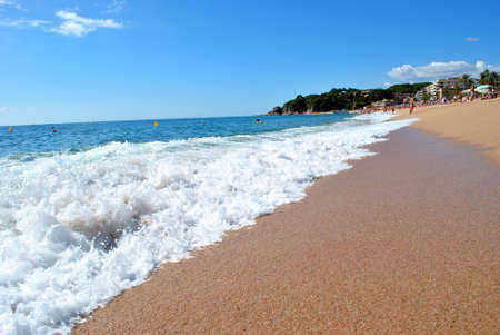 Sea shore, Costa Brava landscape near Lloret de Mar (Spain). Stock Photo