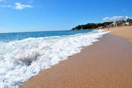 Sea shore, Costa Brava landscape near Lloret de Mar (Spain). Stock Photo