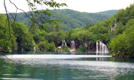 The National park Plitvickie lake in Horvatii  photo
