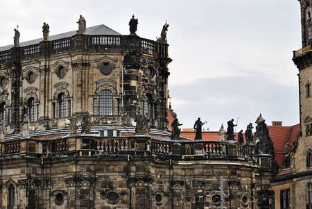 architecture ancient: Fragments of architecture ancient castle-residence, landmark in Dresden.