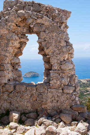Monolithos fortress on the island of Rhodes in Greece.