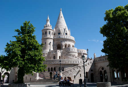 fishermens: landmark in Budapest. Fishermens Bastion. Hungary.