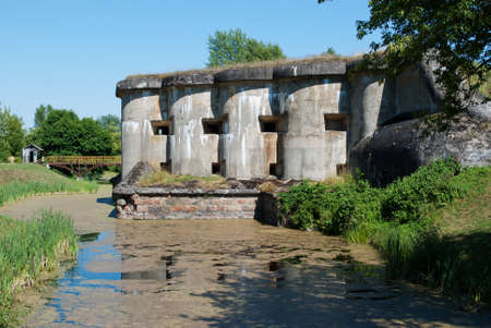 loopholes: The historic military fortifications in Brest Fortress Stock Photo