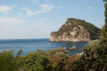 beach of the island of Corfu. Stock Photo