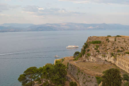 Old fortress on the island of Corfu in Greece. Stock Photo