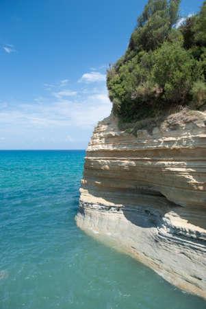 beautiful  landscape beach Sidari coast of Corfu