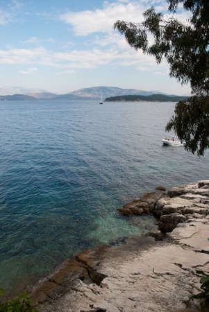 beautiful  landscape  coast of Corfu