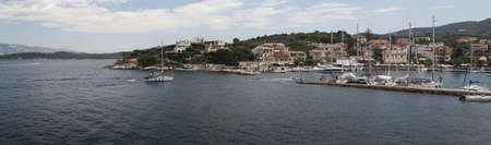 panorama of the beautiful landscape of the coast of Corfu