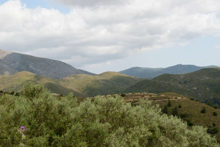 mountain landscape of Greece